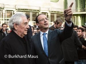 Daniel Buren, François Hollande, © Burkhard Maus