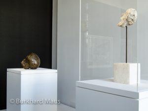 """Pablo Picasso """"Tête de mort"""" (l.), Alberti Giacometti """"T^te sur tige"""" (r.), Musée Picasso Paris"""