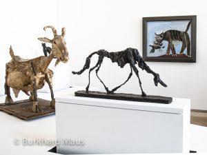 "Pablo Picasso ""Chat"", Pablo Picasso ""La Chèvre"", Alberto Giacometti ""Le chien"", Musée Picasso Paris"