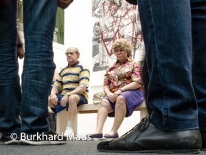 "Gagosian Gallery: Duane Hanson ""Old couple on a bench"", FIAC 2016, Grand Palais, Paris"