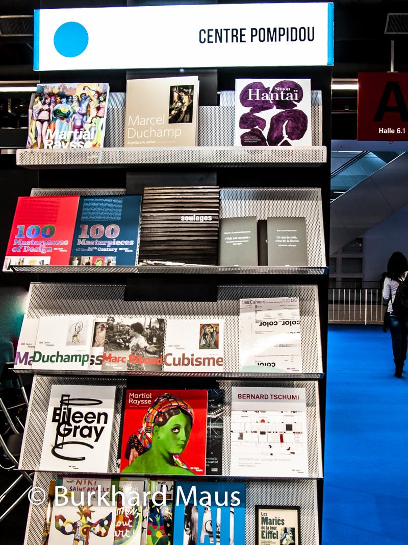 Centre Pompidou - Bücherpräsentation (détail), auf der Frankfurter Buchmesse 2014