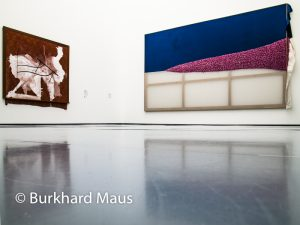 "Hinter dem Vorhang, Museum Kunstpalast, Sigmar Polke """"Season's Hottest Trend"" (r.), Sigmar Polke ""Tischerücken"" (l), Burkhard Maus"