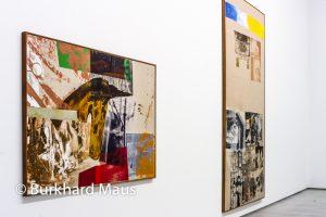 """Robert Rauschenberg, """"Mane (Salvage)"""" (l.) """"Moat (Salvage) (r.), Galerie Thaddaeus Ropac, Paris"""
