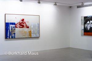 """Robert Rauschenberg, """"Anniversaire (Salvage)"""" (l.), """"Star (Salvage"""" (détail) (r.), Galerie Thaddaeus Ropac, Paris"""