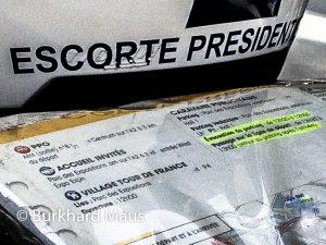 Tour de France, Eskorte des Präsidenten (Garde républicaine)