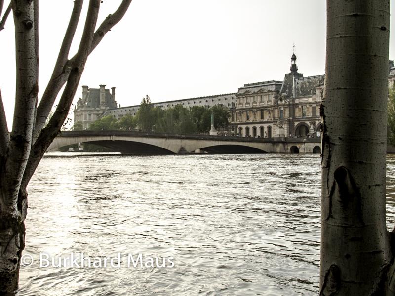 Le Louvre, (détail), Risques d'inondation, Paris