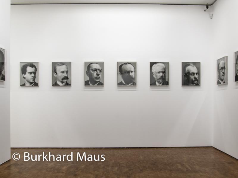 """Gerhard Richter, """"48 Portraits"""" (détail) Museum Ludwig"""