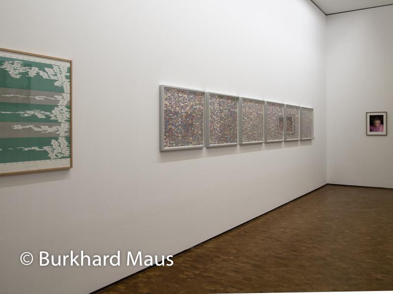 """Gerhard Richter, (v.l.n.r.) """"Übersicht"""" (détail), """"Farbfelder. 6 Anordnungen von 1260 Farben"""", """"Ella"""", Museum Ludwig"""
