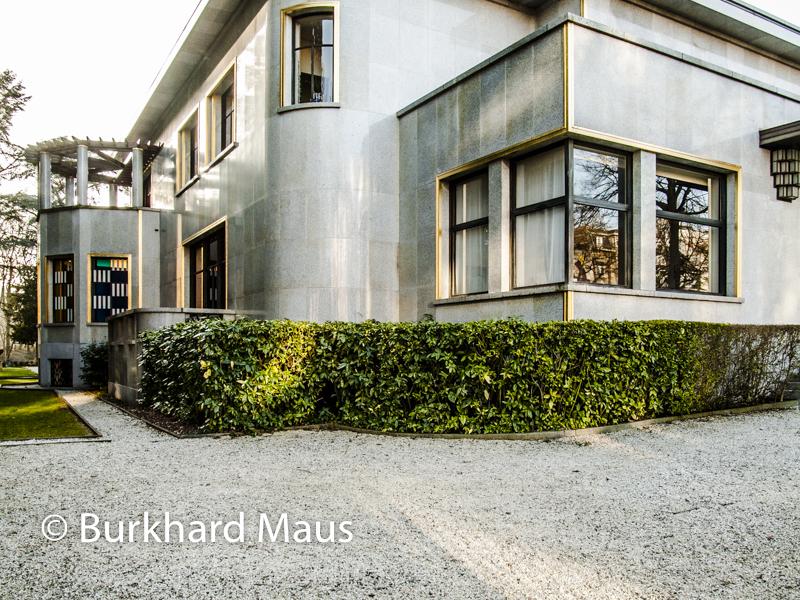 """Daniel Buren, """"Entrelacer"""" (l.) (détail), Villa Empain - Boghossian Fondation, Bruxelles"""