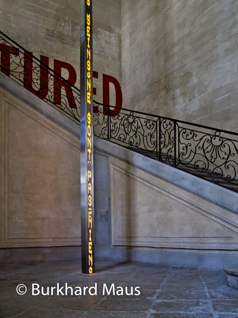 Jenny Holzer, (détail), La Collection Lambert, Avignon
