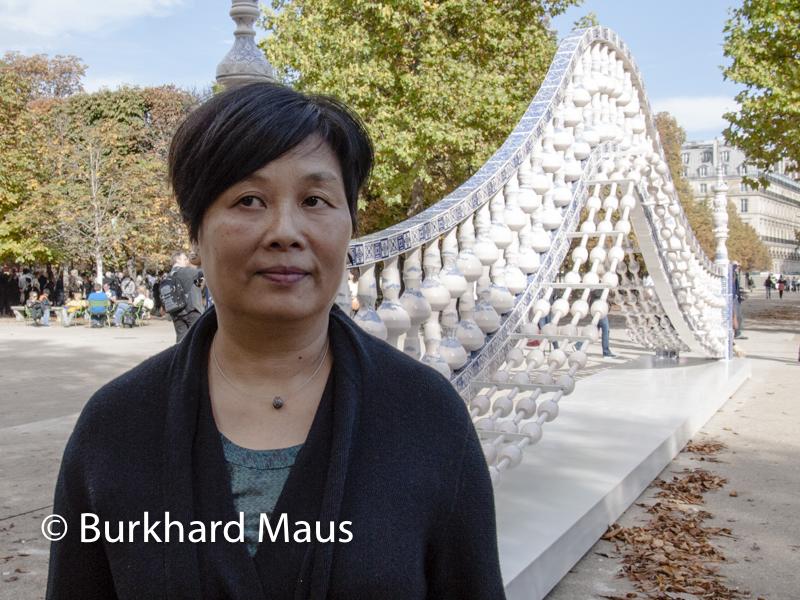 """Shen Yuan, (Portrait), """"Pont"""", (détail), La Foire Internationale d'Art Contemporain (fiac), (Hors les Murs), Jardin des Tuileries, Paris"""