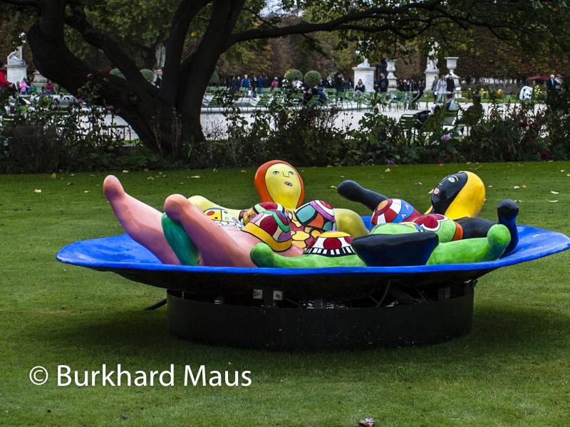 """Niki de Saint Phalle """"Fontaine aux Nanas"""", Galerie Georges-Philippe & Nathalie Vallois, Foire Internationale d'Art Contemporain (FIAC) 2014, Hors les murs – Jardin des Tuileries, Paris"""