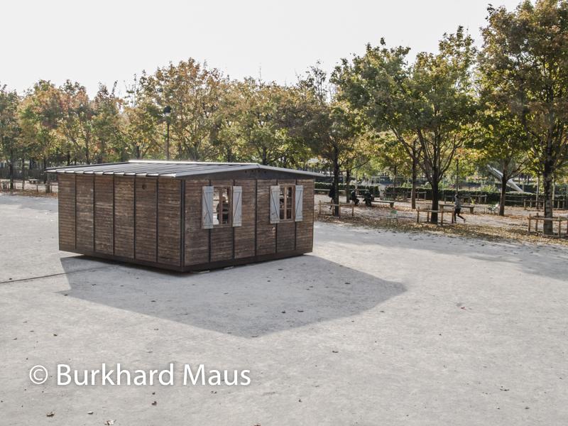 """Jean Prouvé, """"Maison Démontable"""", Foire Internationale d'Art Contemporain (FIAC) 2017: Hors les murs – Jardin des Tuileries, Paris"""