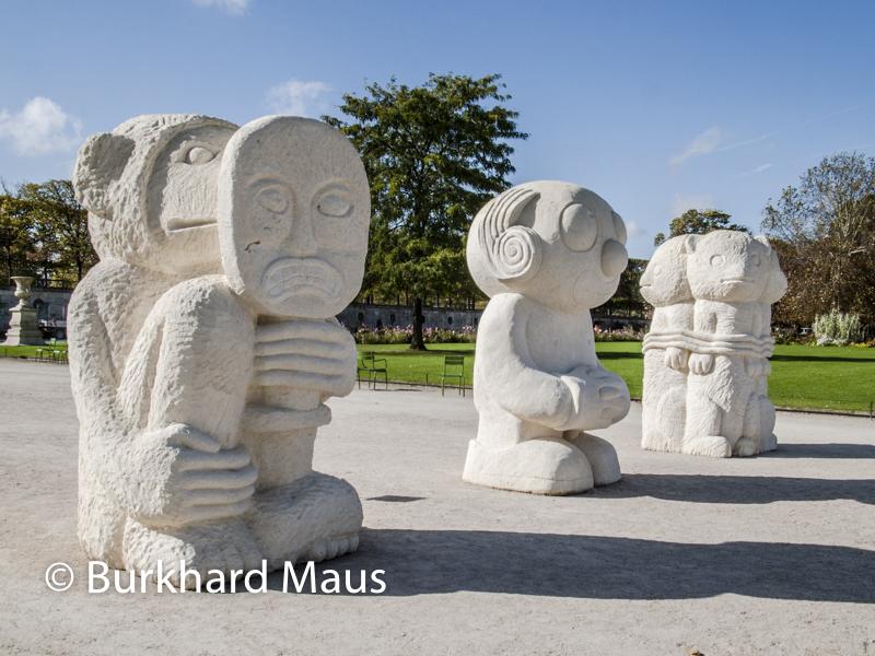 """Stefan Rinck, """"Les statues meurent aussi"""", Foire Internationale d'Art Contemporain (FIAC) 2017: Hors les murs – Jardin des Tuileries, Paris"""