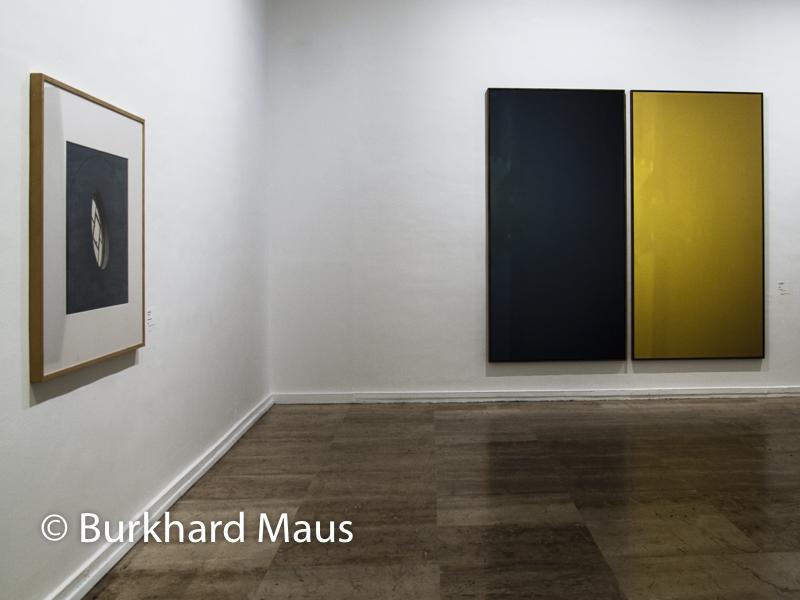 """Musée d'Art Moderne de la Ville , de Paris, Paris, """"Horizont """"(l.), Duo X"""" (r.), Donation Jan Dibbets"""