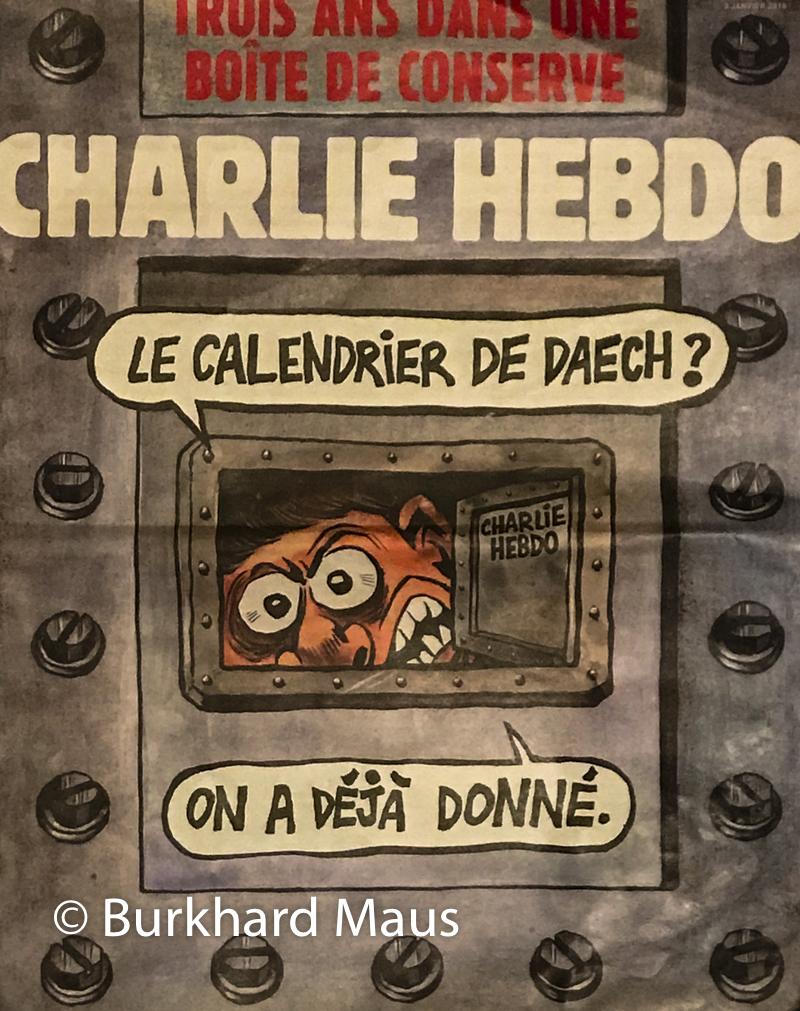 Charlie Hebdo, Titel der Ausgabe vom 3.Januar 2018