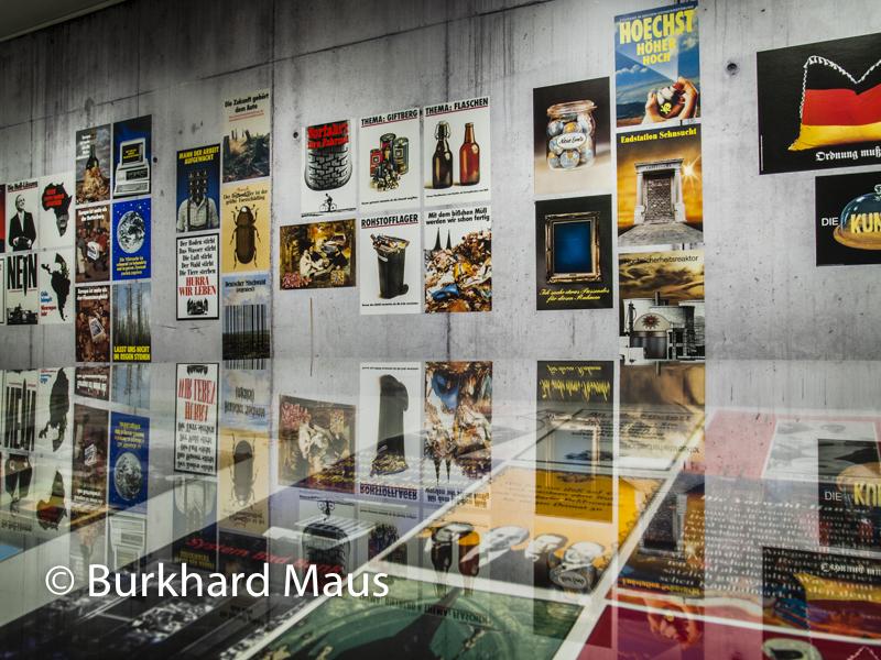 "Klaus Staeck, Détail aus der Ausstellung ""Sand fürs Getriebe"", Museum Folkwang"