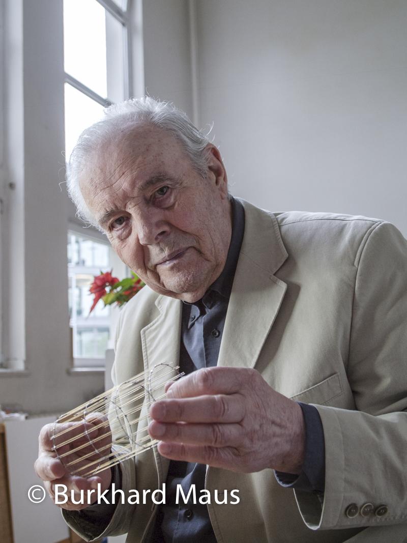 Günter Haese, (Portrait) in seinem Atelier