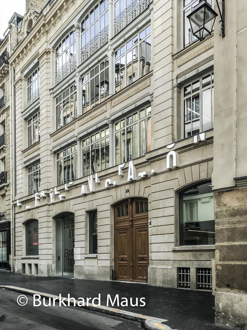 La Fayette Anticipations, (accès 9 rue du Plâtre) (détail), Paris