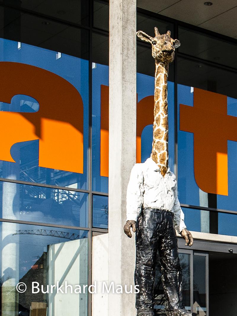 """Stephan Balkenhol """"Homme-girafe"""", Arte, Strasbourg"""