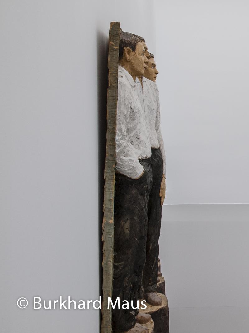 """Stephan Balkenhol """"Vier männliche Figuren"""", in: """"Figure on Display - Stephan Balkenhol und Jeff Wall"""", Leoplod Hoesch Museum, Düren"""