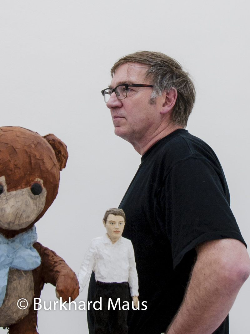 "Stephan Balkenhol, ""Teddy mit Mann"" (détail)"