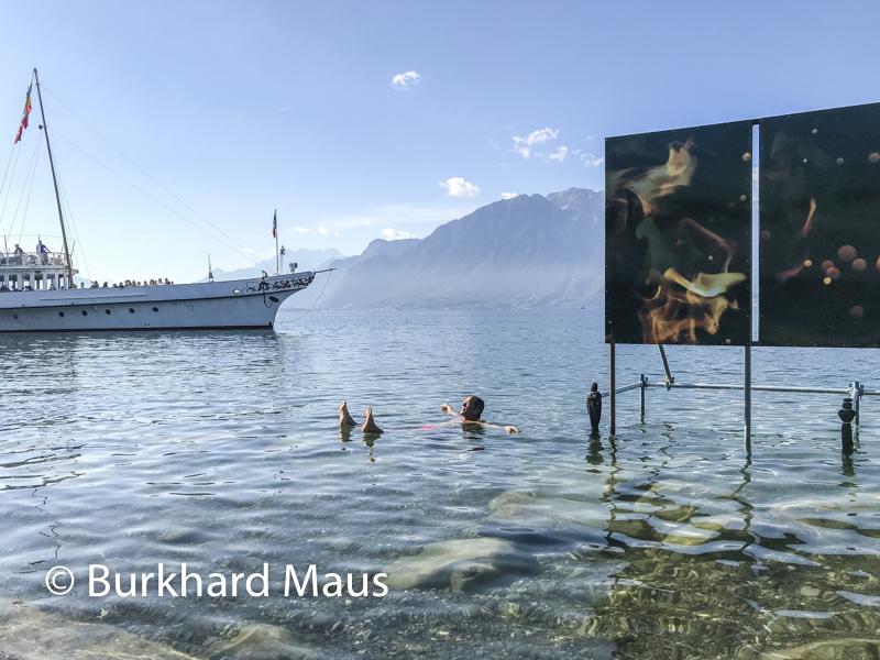 Philippe Durand, Le Feu au lac (détail), Biennale des arts visuels – Festival Images Vevey, Vevey