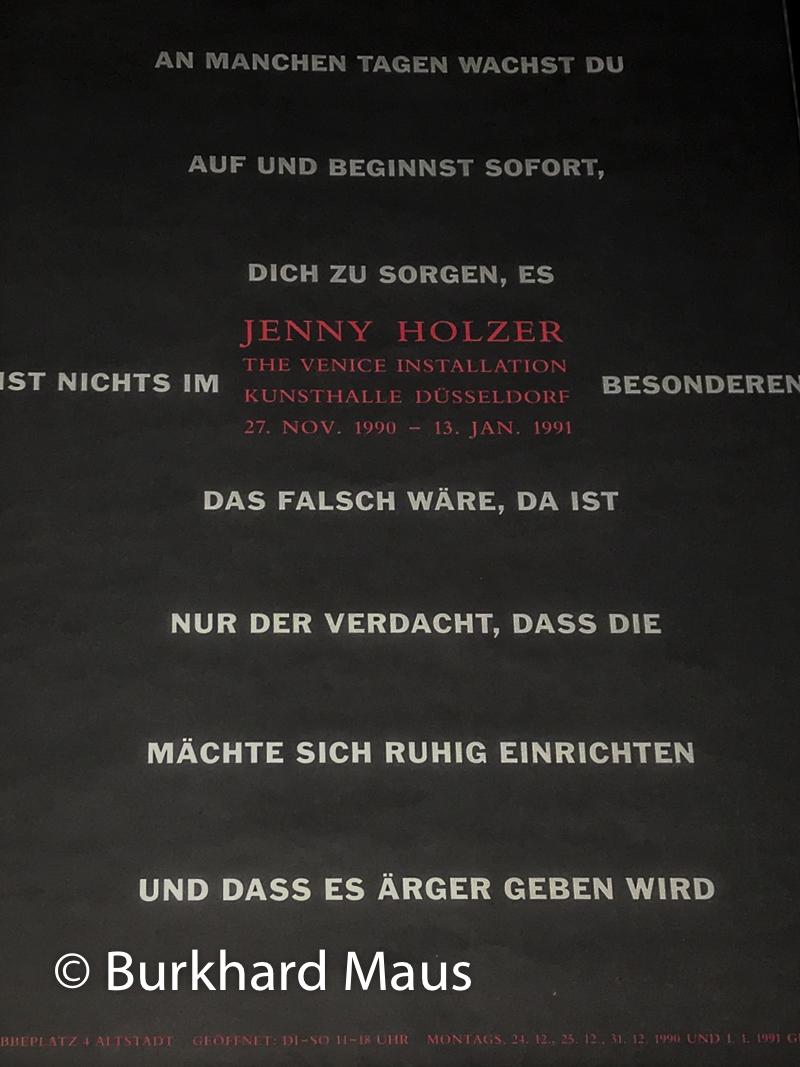 Jenny Holzer, Plakat zur Ausstellung der Kunsthalle Düsseldorf 1990