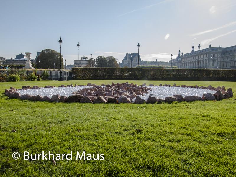 """Richard Long, """"Blue Sky Circle"""", Foire Internationale d'Art Contemporain (FIAC) 2018: Hors les murs – Jardin des Tuileries, Paris"""