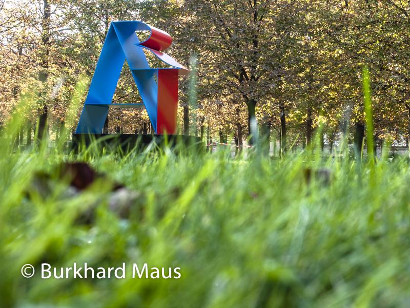 """Robert Indiana, """"Dià"""", Foire Internationale d'Art Contemporain (FIAC) 2018: Hors les murs – Jardin des Tuileries, Paris"""