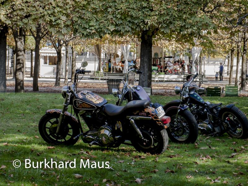 """Olivier Mosset, Untitled (3 bikes)"""", Foire Internationale d'Art Contemporain (FIAC) 2018: Hors les murs – Jardin des Tuileries, Paris"""