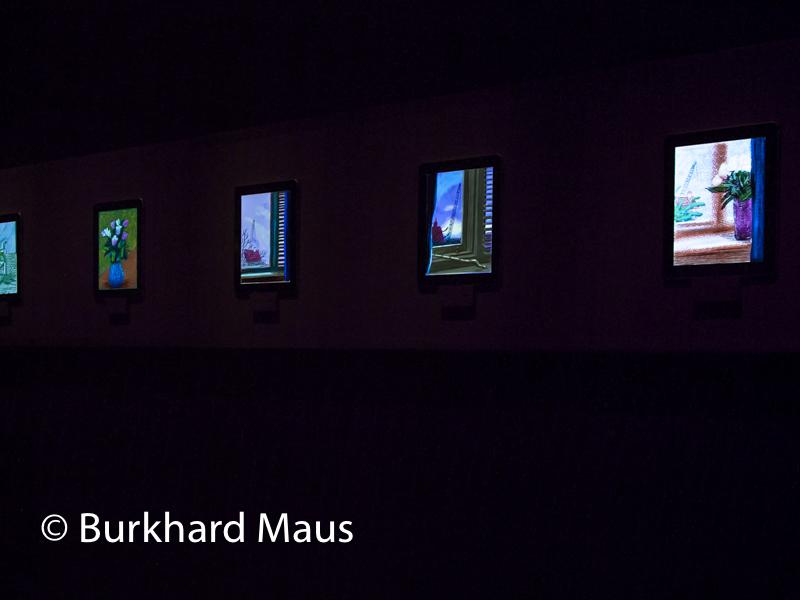 """David Hockney, """"Fleurs fraîches Dessins sur iPhone et iPad"""", (détail), Fondation Pierre Bergé - Yves Saint Laurent, Paris"""