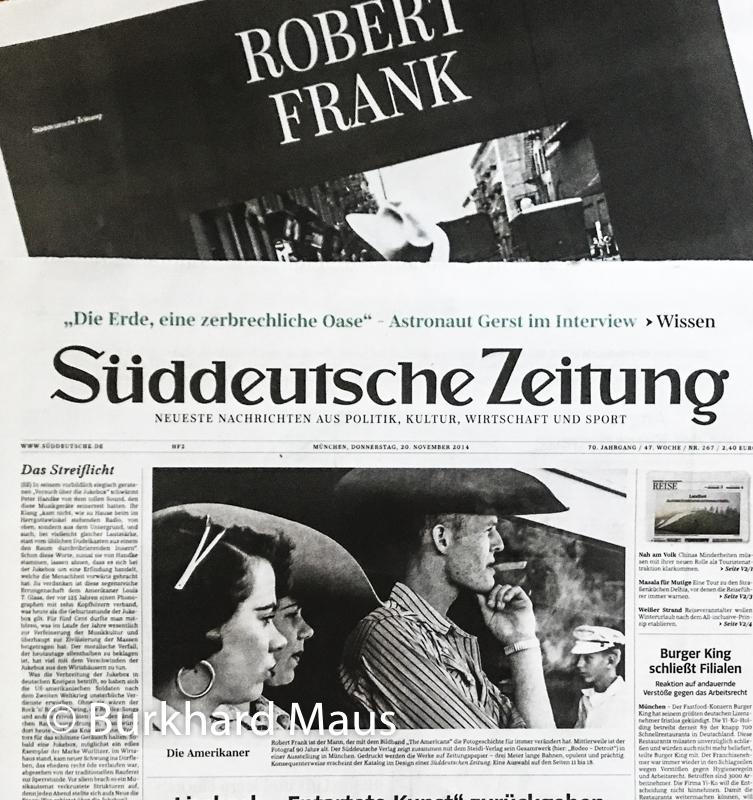 Robert Frank, Süddeutsche Zeitung 20.November 2014