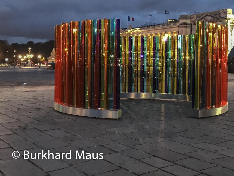 """Carlos Cruz-Diez, """"Environnement de Transchromie Circulaire"""", FIAC/Tuileries 2019/Tuileries, Jardin des Tuileries, Place de la Concorde, Foire Internationale d'Art Contemporain (FIAC) 2019, Hors le Murs"""
