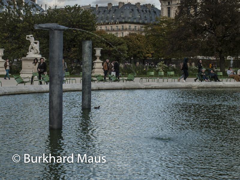 "Katinka Bock, ""Parasite fountain"", FIAC/Tuileries 2019/Tuileries, Jardin des Tuileries, Foire Internationale d'Art Contemporain (FIAC) 2019:"