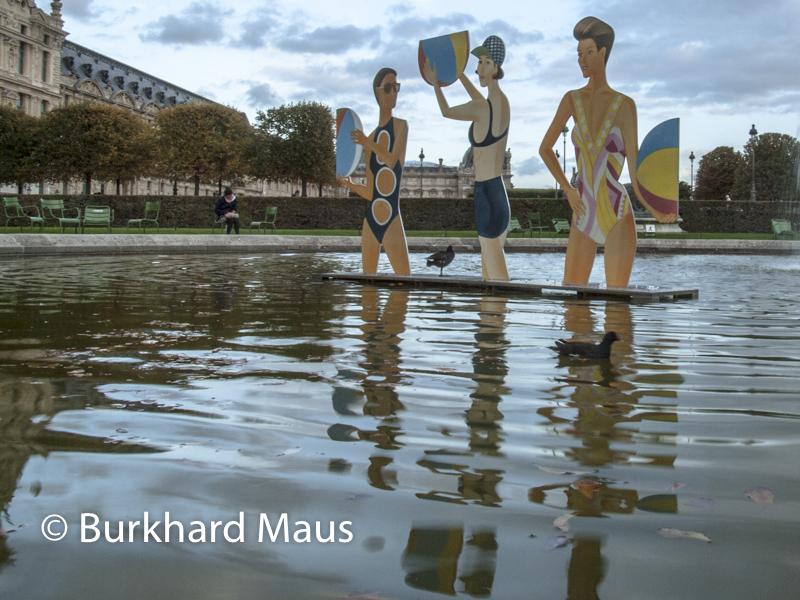 "Alex Katz, ""Chance"", FIAC/Tuileries 2019/Tuileries, Jardin des Tuileries, Foire Internationale d'Art Contemporain (FIAC) 2019:"