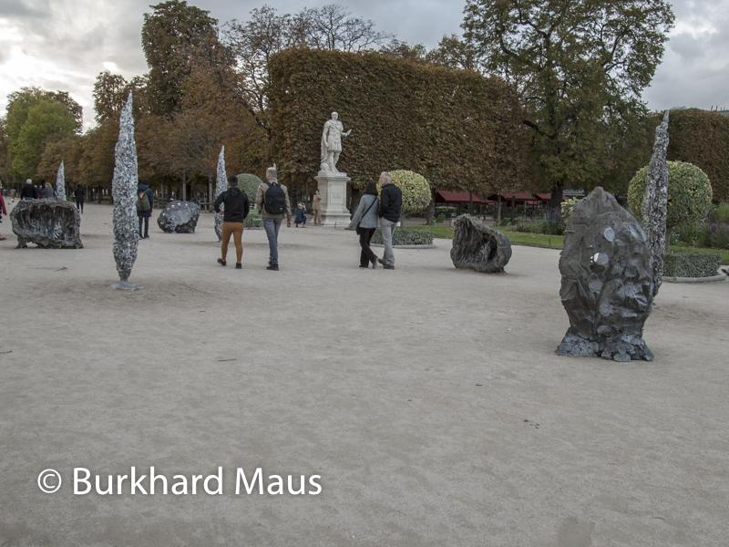 """Jean-Marie Appriou, """"Grotto"""", FIAC/Tuileries 2019/Tuileries, Jardin des Tuileries, Foire Internationale d'Art Contemporain (FIAC) 2019:"""