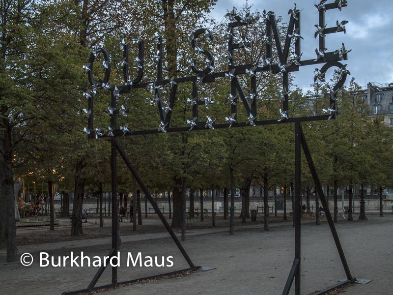 """Pierre Ardouvin, """"Qui sème le vent?"""", FIAC/Tuileries 2019/Tuileries, Jardin des Tuileries, Foire Internationale d'Art Contemporain (FIAC) 2019"""