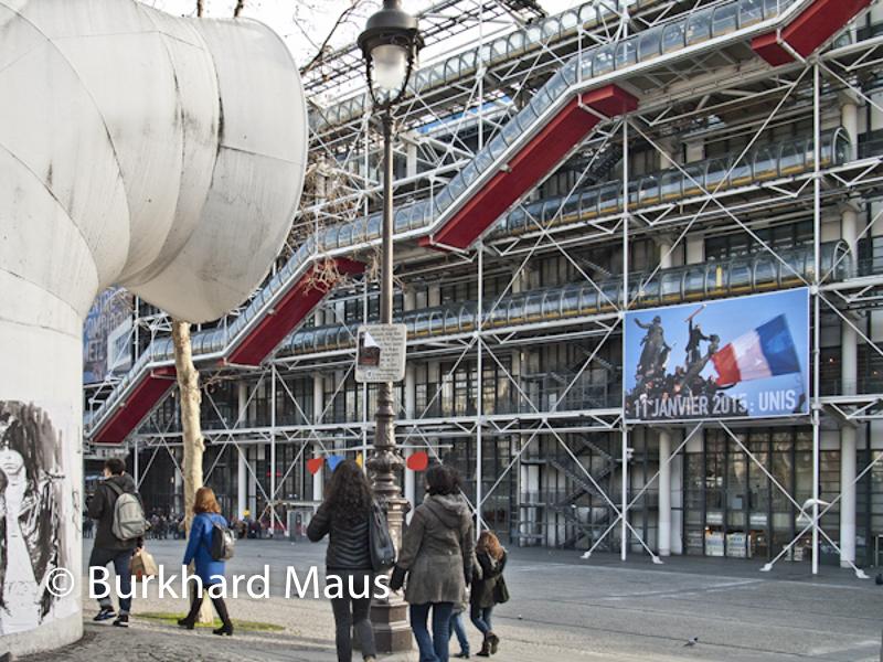 """Pour Charlie Hebdo, Centre Pompidou (détail), """"11 Janvier 2015: Unis"""" - Photographie © Stéphane Mahé /Reuters)"""