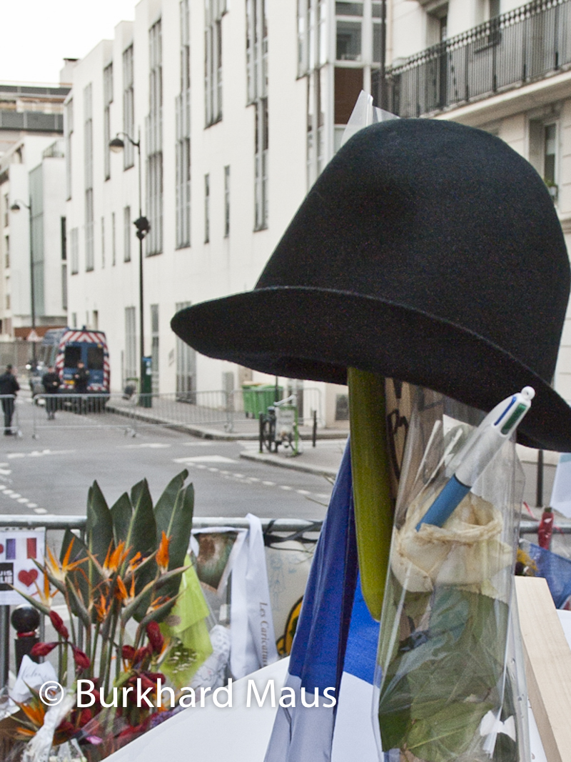 Pour Charlie Hebdo /Paris, Rue Nicolas Appert