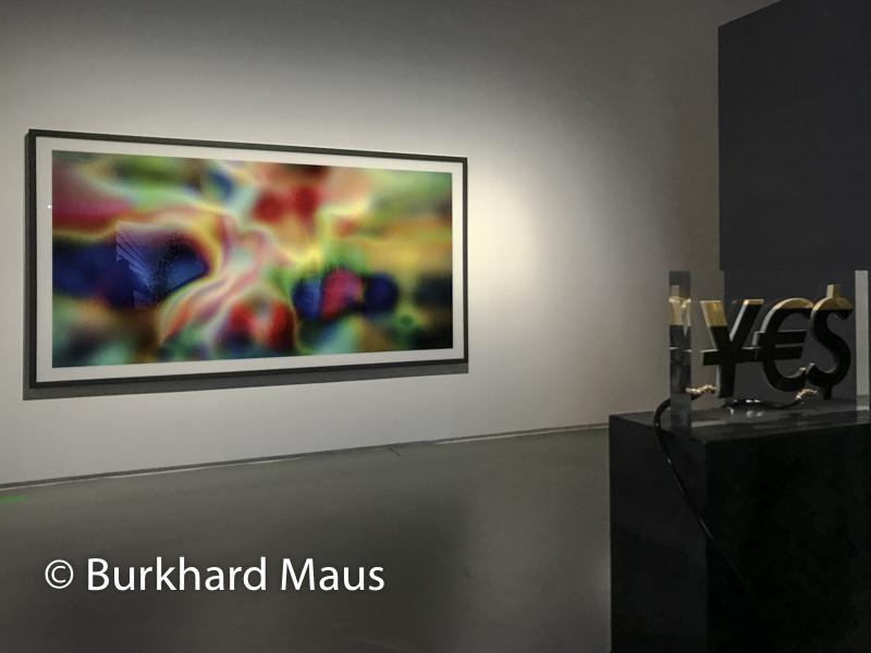 """Andreï Molodkin, """"Yes"""", Thomas Ruff, """"Substrat 8 II"""", Le Supermaché des images"""", Jeu de Paume, Paris"""