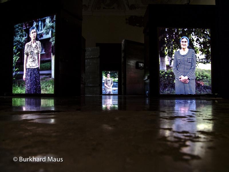 "Anastasia Khoroshilova, ""НОВОСТИ ИЗ ВЕНЕЦИИ – NOVOSTI IZ VENEZII "" (détail), Esposizione internazionale d'arte di Venezia, Venise"