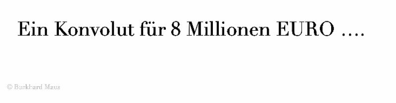 Ein Konvolut für 8 Millionen EURO