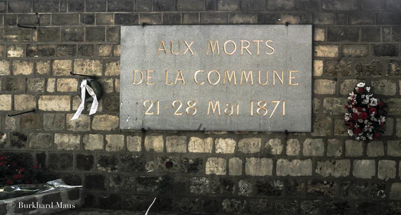 Commune de Paris, Cimetière Père Lachaise, Paris