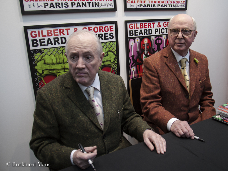 Gilbert & George, Foire Internationale d'Art Contemporain (FIAC), Grand Palais, Galerie Thaddaeus Ropac, Paris