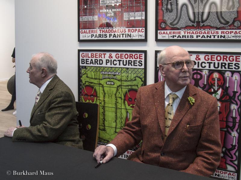 Gilbert & George, Foire Internationale d'Art Contemporain (FIAC), Grand Palais, Galerie Thaddaeus Ropac, Paris