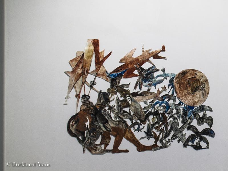 """Anna Boghiguian, """"Attack"""", Le Déracinement, z33 Huis voor Actuelle Kunst, Design &; Architectuur, Hasselt"""