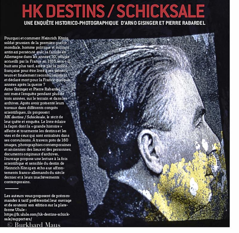 """Arno Gisinger, Pierre Rabadel: """"HK Destins / Schicksale"""""""